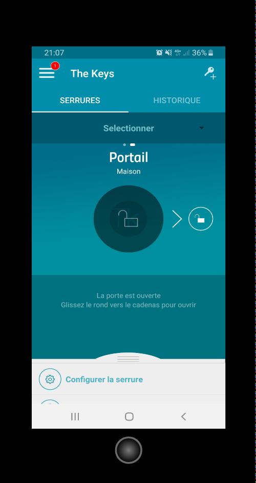application TheKey  pour ouvrir son portail avec son téléphone